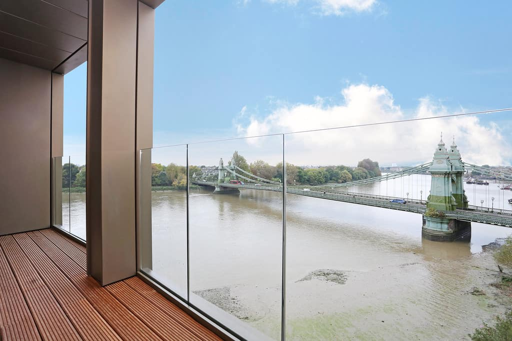 Views of the River Thames from a Hammersmith apartment to let