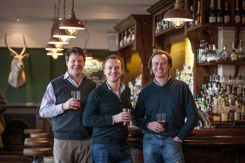 New owners of the Princess Victoria in Shepherds Bush Tom Peake, Mark Reynolds and Nick Fox