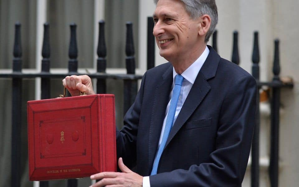 Philip Hammond announcing the 2017 budget